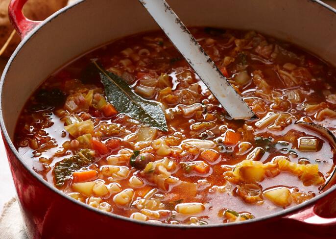 Pot of Minestrone Soup