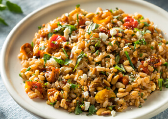 Bowl of Fresh Herbed Farro Salad