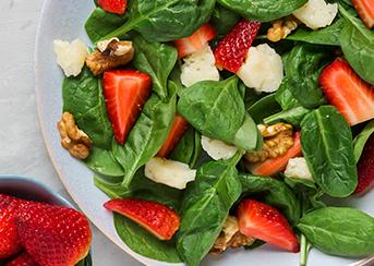 Bowl of Arugula and Strawberry Salad