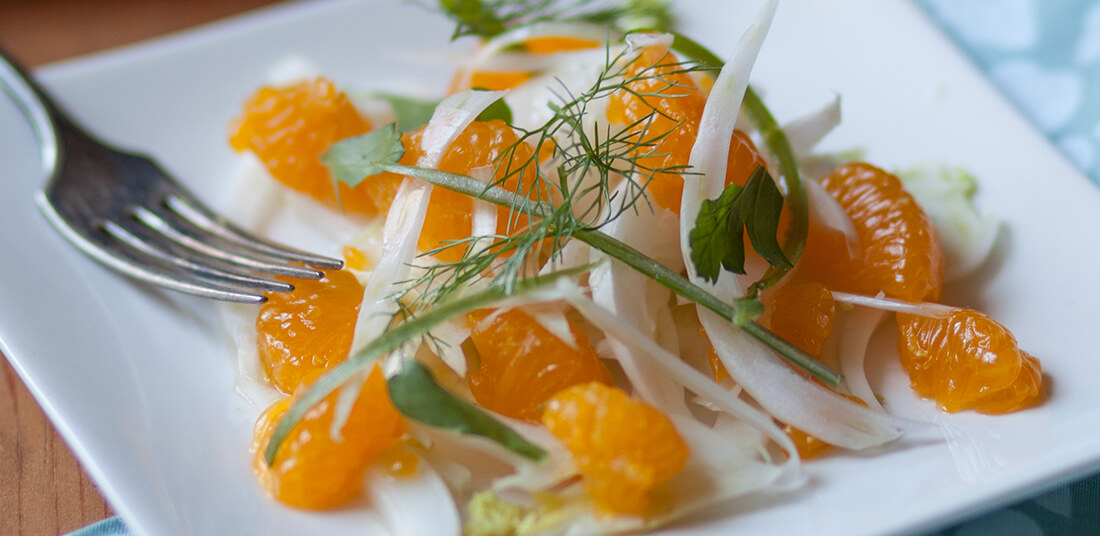 Plate of Fennel and Citrus salad