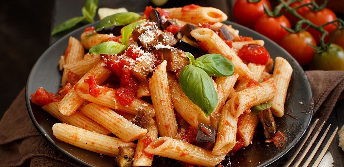 Plate of Pasta with Eggplant